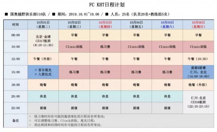 【韩国足球秋令营】国奥越野&FC KHT 韩国足球秋令营等你报名!